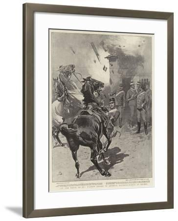 In the Thick of It, Narrow Escape of General Mavromichaelis at Reveni-John Charlton-Framed Giclee Print