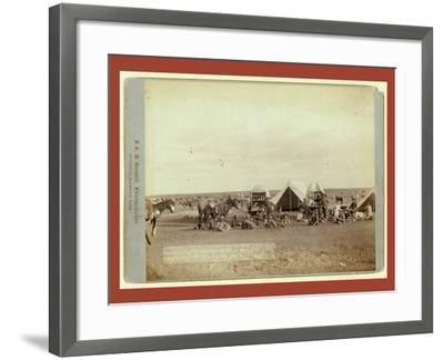 Roundup Scenes on Belle Fouche [Sic] in 1887-John C. H. Grabill-Framed Giclee Print