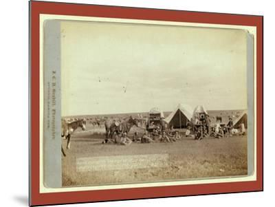 Roundup Scenes on Belle Fouche [Sic] in 1887-John C. H. Grabill-Mounted Giclee Print