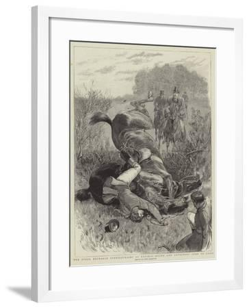 The Stock Exchange Steeplechases at Enfield, Hylda and Lovestone Come to Grief-John Charlton-Framed Giclee Print