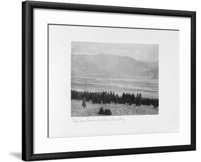 View from Terrace of Debung Monastery, Tibet, 1903-04-John Claude White-Framed Giclee Print