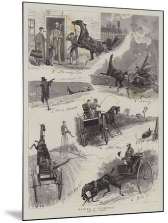 Behind a Scorcher-John Charles Dollman-Mounted Giclee Print
