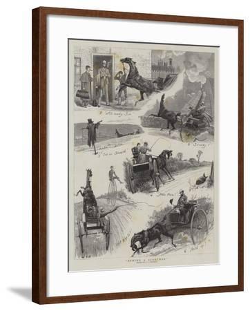 Behind a Scorcher-John Charles Dollman-Framed Giclee Print