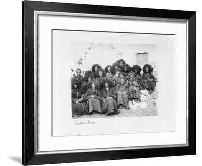 Group of Nuns at the Nunnery of Tatsang, 1903-04-John Claude White-Framed Giclee Print