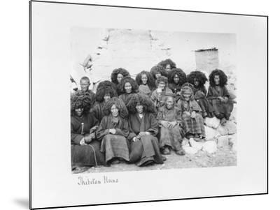 Group of Nuns at the Nunnery of Tatsang, 1903-04-John Claude White-Mounted Giclee Print