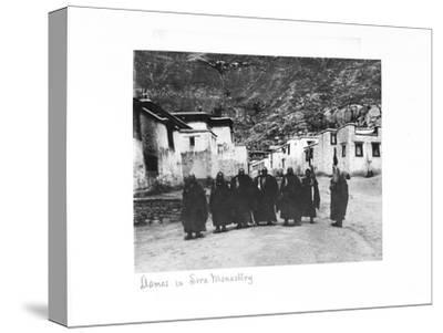 Lamas in Sera Monastery, Lhasa, Tibet, 1903-04-John Claude White-Stretched Canvas Print