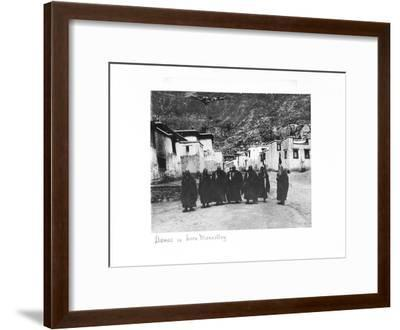 Lamas in Sera Monastery, Lhasa, Tibet, 1903-04-John Claude White-Framed Giclee Print