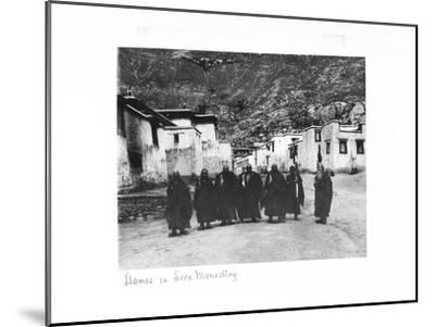 Lamas in Sera Monastery, Lhasa, Tibet, 1903-04-John Claude White-Mounted Giclee Print