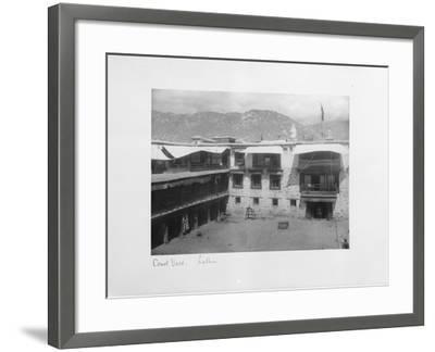 Courtyard, Lalhu, Tibet, 1903-04-John Claude White-Framed Giclee Print