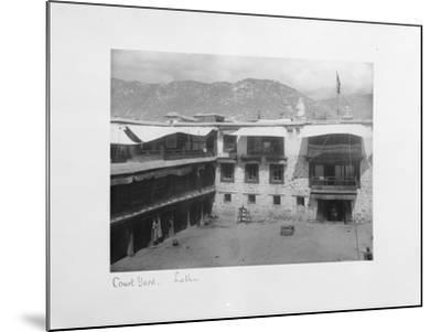 Courtyard, Lalhu, Tibet, 1903-04-John Claude White-Mounted Giclee Print