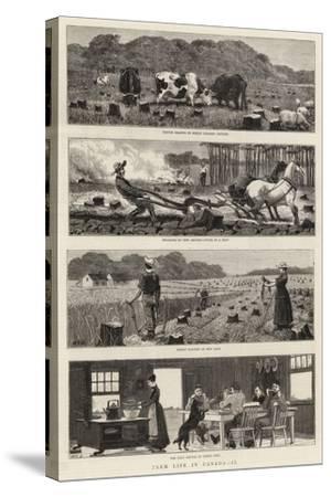 Farm Life in Canada, II-John Charles Dollman-Stretched Canvas Print