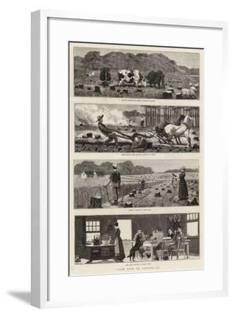 Farm Life in Canada, II-John Charles Dollman-Framed Giclee Print