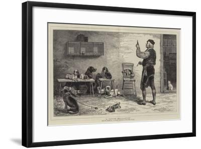 A Canine Aesculapius-John Charles Dollman-Framed Giclee Print