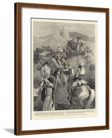 The British Mission to Abyssinia, the Difficulties of the Road-John Charlton-Framed Giclee Print