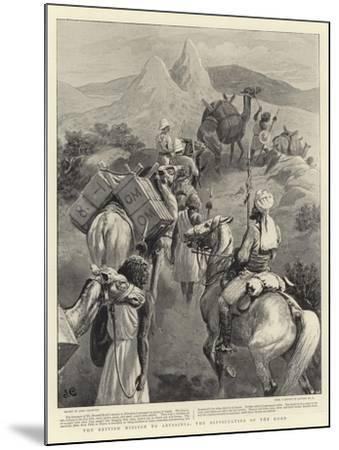 The British Mission to Abyssinia, the Difficulties of the Road-John Charlton-Mounted Giclee Print
