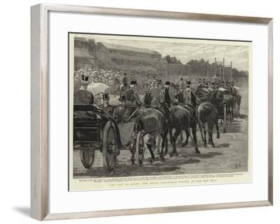 Cup Day at Ascot, the Royal Procession Passing Up the New Mile-John Charlton-Framed Giclee Print