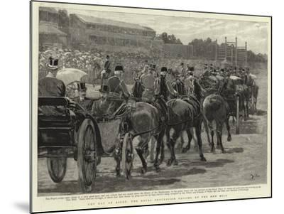 Cup Day at Ascot, the Royal Procession Passing Up the New Mile-John Charlton-Mounted Giclee Print