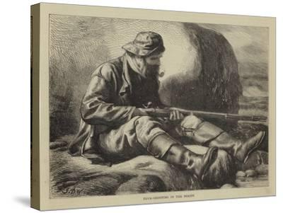 Duck-Shooting in the North-John Dawson Watson-Stretched Canvas Print