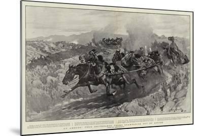 An Ambush, Four Driverless Teams Stampeding Out of Action-John Charlton-Mounted Giclee Print