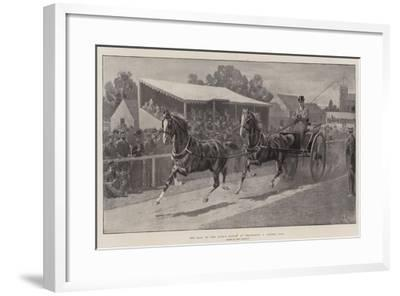 The Sale of the King's Horses at Wolferton, a Tandem Pair-John Charlton-Framed Giclee Print