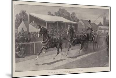 The Sale of the King's Horses at Wolferton, a Tandem Pair-John Charlton-Mounted Giclee Print