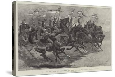 Halt!, Charge of Lancers at the Royal Military Tournament-John Charlton-Stretched Canvas Print