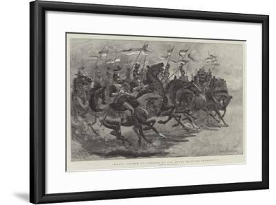 Halt!, Charge of Lancers at the Royal Military Tournament-John Charlton-Framed Giclee Print