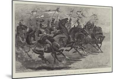 Halt!, Charge of Lancers at the Royal Military Tournament-John Charlton-Mounted Giclee Print