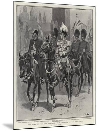 The Duke of Fife and Admiral Sir E Seymour in the Procession-John Charlton-Mounted Giclee Print