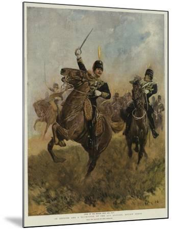 An Officer and a Trumpeter of the 20th Hussars, Review Order-John Charlton-Mounted Giclee Print