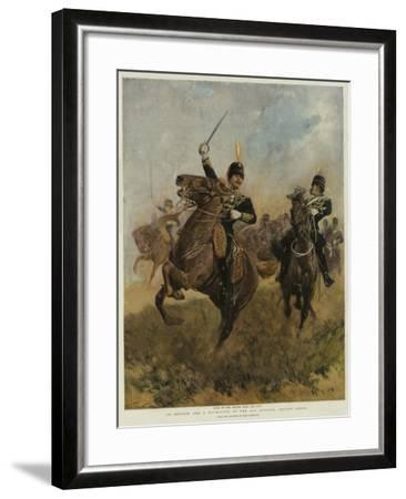 An Officer and a Trumpeter of the 20th Hussars, Review Order-John Charlton-Framed Giclee Print