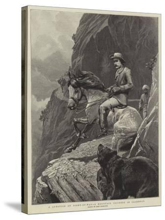 A Question of Right-Of-Way, a Mountain Incident in Cashmere-John Charlton-Stretched Canvas Print