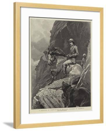 A Question of Right-Of-Way, a Mountain Incident in Cashmere-John Charlton-Framed Giclee Print