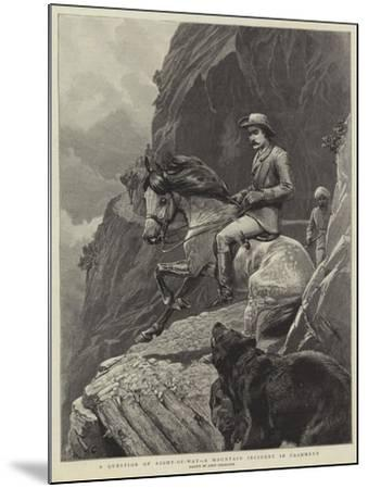 A Question of Right-Of-Way, a Mountain Incident in Cashmere-John Charlton-Mounted Giclee Print