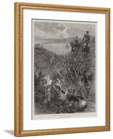 Cub-Hunting, a Spin across the Moor-John Charlton-Framed Giclee Print