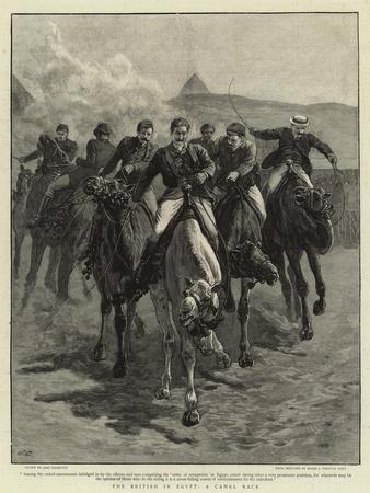 The British in Egypt, a Camel Race-John Charlton-Framed Giclee Print