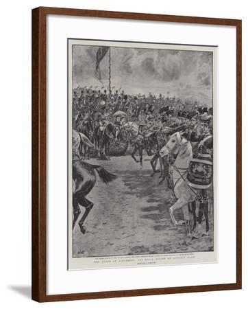 The Queen at Aldershot, the Royal Review on Laffan's Plain-John Charlton-Framed Giclee Print