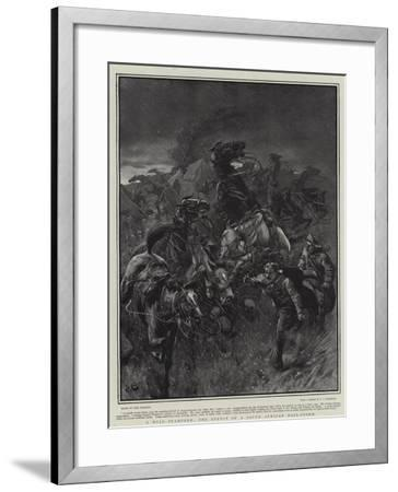 A Wild Stampede, the Effect of a South African Hail-Storm-John Charlton-Framed Giclee Print