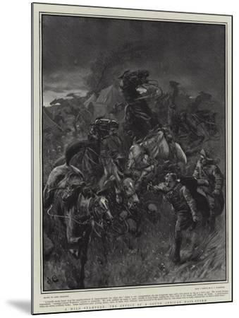 A Wild Stampede, the Effect of a South African Hail-Storm-John Charlton-Mounted Giclee Print