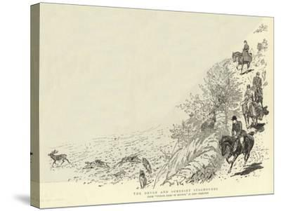 The Devon and Somerset Staghounds-John Charlton-Stretched Canvas Print