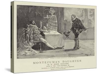 Montezuma's Daughter-John Seymour Lucas-Stretched Canvas Print