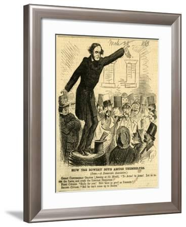 How the Bowery Boys Amuse Themselves, 1863-John McLenan-Framed Giclee Print
