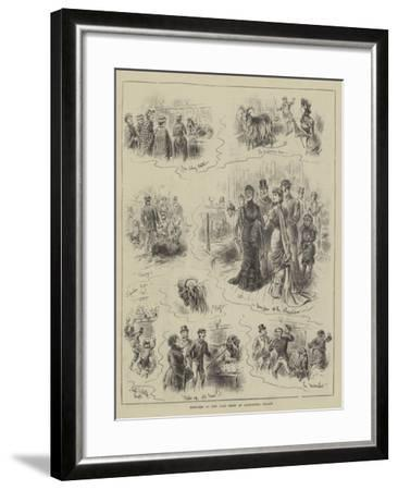 Sketches at the Goat Show at Alexandra Palace-John Jellicoe-Framed Giclee Print