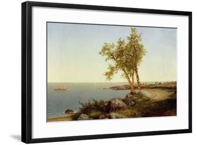 Shore Line in Summer-John Frederick Kensett-Framed Giclee Print
