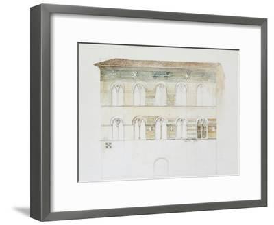 The Palazzo Gambacorti, Pisa, 27 - 30 April 1872 (Watercolour over Graphite on Wove Paper)-John Ruskin-Framed Giclee Print