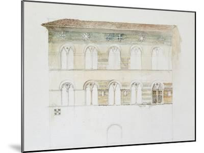 The Palazzo Gambacorti, Pisa, 27 - 30 April 1872 (Watercolour over Graphite on Wove Paper)-John Ruskin-Mounted Giclee Print