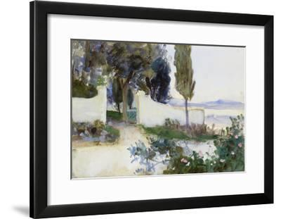 Gates of a Villa in Italy-John Singer Sargent-Framed Giclee Print