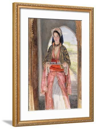 An Eastern Girl Carrying a Tray, 1859-John Frederick Lewis-Framed Giclee Print