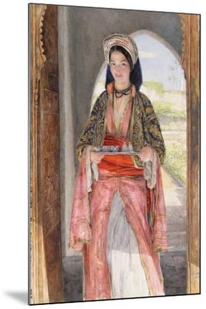 An Eastern Girl Carrying a Tray, 1859-John Frederick Lewis-Mounted Giclee Print