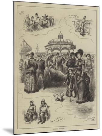 Brighton Sketches-John Jellicoe-Mounted Giclee Print